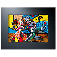 ROMERO BRITTO Reliefbild -Follow me-