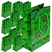 Set: 10 Geschenktüten - Kleeblätter mit Marienkäfer -