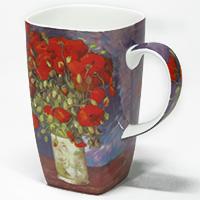 """Design Becher Künstlerkollektion """"Gogh - Vase mit roten Mohnblumen"""""""