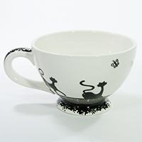 Milchkaffeetasse -Katze-