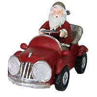 Santa im Cabrio