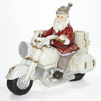 Santa auf Motorrad