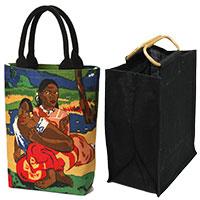 Taschenset: Künstlertasche -Gauguin- & Bottle Bag black