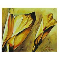 Calla - ein wundervolles echtes Gemälde aus Künstlerhand