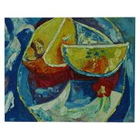Naranja - ein wundervolles echtes Gemälde aus Künstlerhand