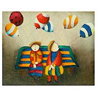 Bunte Zweisamkeit - ein wundervolles echtes Gemälde aus Künstlerhand