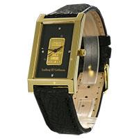 L&G Armbanduhr - Goldbar black -