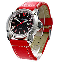 Lamborghini watch - Steering - red strap
