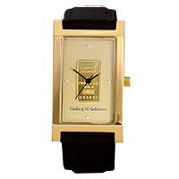 L&G - Goldbar black leather -