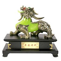 Faszinierende Skulptur: Chinesischer Wächter-Löwe / Fu-Hund
