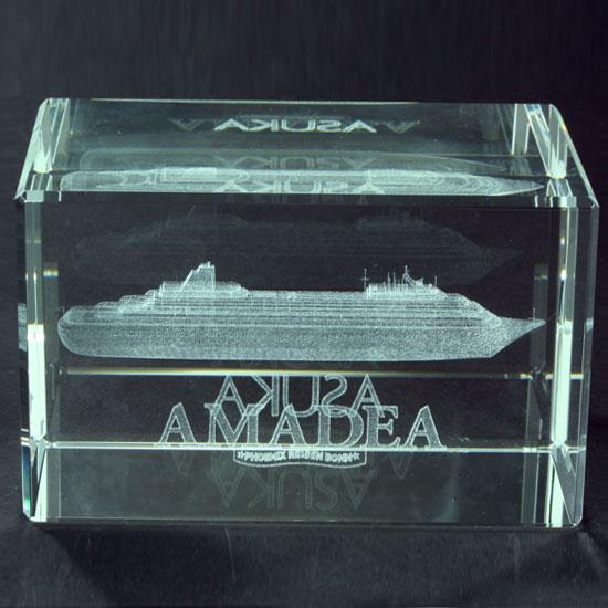 Glas-Briefbeschwerer - AMADEA -