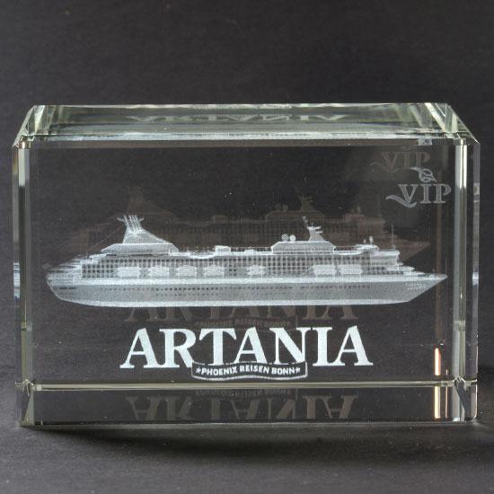 Glas-Briefbeschwerer - ARTANIA -