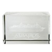 Glas-Briefbeschwerer - ALBATROS -